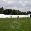 Wednesday afternoon, workers staged the huge tent that will house The Great Newtown Reunion on Saturday, July 27, at Fairfield Hills. (Voket photos)