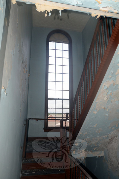 The banisters, tall arch windows and heavy marble shower stalls still installed at Danbury Hall will be nothing more than memories by mid-October. The building is slated for razing this fall, and officials are concurrently working on both a remediation and demolition plans, according to Public Works Director Fred Hurley. (Voket photo)