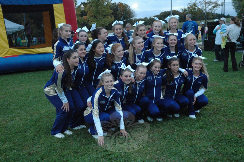 More than 20 Newtown High School cheerleaders attended the Light The Night event on September 29.   (Gorosko photo)