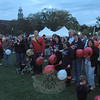 Several hundred people participated in the Leukemia and Lymphoma Society's Light The Night event on Saturday, September 29, at Fairfield Hills. The walking event is intended to raise public awareness and raise funds for blood cancer research. The participants are seen at the start/finish gate for the event in front of Newtown Youth Academy.      (Gorosko photo)