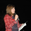 Christina Ercole of Newtown, a survivor of acute lymphoblastic leukemia, spoke about her experiences as a survivor of blood cancer at the Leukemia and Lymphoma Society's Light The Night event at Fairfield Hills.   (Gorosko photo)