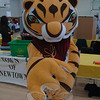 This friendly large-pawed tiger attended the Newtown Public Safety and Health Fair to rep-resent Steve DeMasco's Shaolin Studios of Newtown, a local martial arts school.   (Gorosko photo)