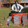 Entries in the 2009 NMS Sculpted Scarecrow Contest.  (Hallabeck photo)