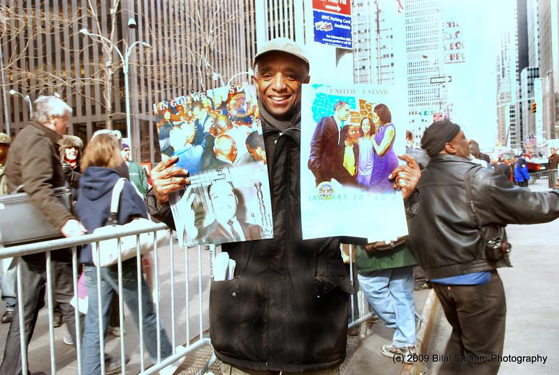 Radio and TV host, Leroy Baylor joined demonstrators.
