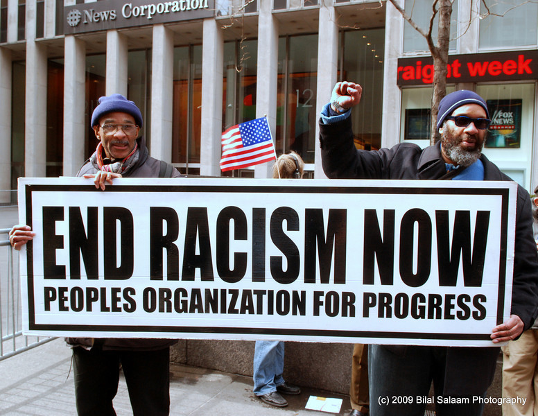 Mel Wright and member of Peoples Organization for Progress.