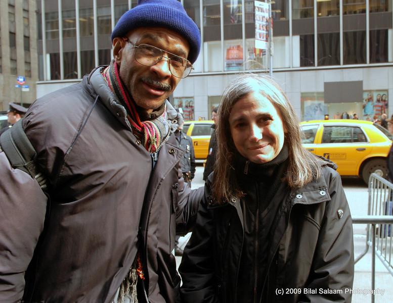 "Photographer, Mel Wright  and Amy Goodman.  Amy Goodman hosts ""Democracy Now"" on WBAI fm radio and TV."