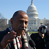 Rep. John Conyers being interviewed <br /> Washington DC <br /> 2007