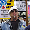 Longshoreman in Seattle<br /> ILWU May Day Strike<br /> 2008