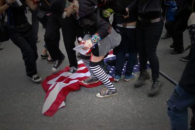 The Flag and the Black Bloc  Portland Oregon 2007