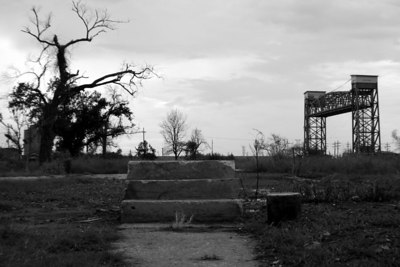 Stairs to nowhere. Lower Ninth Ward. Taken one year after hurricane Katrina. Close to the area of the breach in the levy.