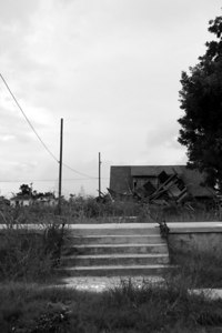 Lower Ninth Ward. Stairs with no home.