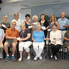 Newtown Woman's Club, GWFC, Inc, invited representatives of 14 local organizations to meet with outgoing club president Gladys McLaughlin and outgoing finance chairman Pat Denlinger on June 22 at C.H. Booth Library. That morning, the ladies handed out checks on behalf of the club, representing fundraising efforts from the 2011-12 fiscal year. Standing from left are Maureen Birden and Rosalie Newman, representing Newtown Youth & Family Services; Sylvia Poulin from Kevin's Community Center; Beth Caldwell for Newtown Labor Day Parade Committee; Barbara Lynch, Spay & Neuter Association of Newtown; Marg Studley, representing Regional Hospice of Western Connecticut and Newtown Meals on Wheels; Stephanie Gaston, Newtown Scholarship Association; Dick Sturdevant, Salvation Army; and Lori Zezza, Ann's Place/The Home of I Can. Seated, from left, are Bruce Herring, representing Newtown Volunteer Ambulance Association; Donald Ramsey, who was also representing NYFS; Ms Denlinger and Ms McLaughlin; Janet Woycik, C.H. Booth Library; and Alex Lopes Massa, the Women's Center. The club also made donations to Western Connecticut State University's Fresh Start Scholarship, via Shirley Ferris, and Newtown's combined fire com-panies.      (Hicks photo)