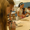Participating students in Parks & Recreation's Paint, Draw and More course made clay creations on Monday, July 9.  (Hallabeck photo)