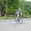 Muddy Angels riders arrived in Newtown on May 22, four days into their 2013 East Coast ride, a long distance cycling event that honors EMTs and paramedics who have become sick, injured or were killed while performing their duties. The stop in Newtown honored local EMS providers who were involved in the events of 12/14.   (Bobowick photo)