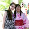 Newtown High School juniors Lee Cummings, left, and Emily Berube both hosted Japanese students in March. They are pictured during the May 15 highlight night held for the Newtown International Center for Education (NICE). (Francke photo)