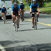 A group of Toronto police bicyclists are seen as they traveled southward on Main Street approaching the police station on May 17. The Toronto police contingent stopped at the police station to wish local officers well in light of 12/14. (Gorosko photo)