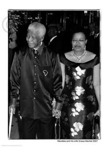 """Monaco le 02/09/2007 Soirée de Gala et vente aux enchères à l'hôtel de Paris,au profit de l'Amade Mondiale,de la """"Nelson Mandela Foundation."""