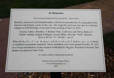 MEMORIAL PLAQUE DEDICATION