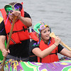 "Josh and Nicole Canner compete in Armstrong Bank's ""Mardi-Gras"" in the 2012 River Rumba Regatta."