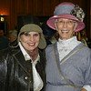 Terri Fite as Amelia Earhardt, left, and Francie Fite as her great aunt, Nannie Daniel Fite, pose for photos during the Severs Hotel 100th anniversary celebration.