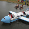 "The ""Air Force One"" made a fast start off the line, but was quickly inhibited by its wings in the 2012 River Rumba Regatta."