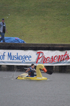 """The """"Lucky-Ducky"""" captained by Jennifer Fraley was winner of the People's Choice award in the 2012 River Rumba Regatta."""