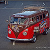 The Mummers parade was led by this Vintage VW Bus. Peanut Chews were handed out to the crowd. Howard Pitkow / for Newsworks