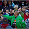 Mayor Michael Nutter shaking hads with the crowd on the papade route. Howard Pitkow / for Newsworks