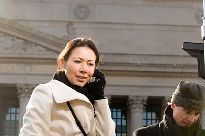 Ann Curry, NBC 'Today' Hostess - reporting on the Presidential Inaugural Parade.