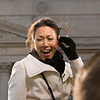 "Ann Curry, NBC ""Today"" Host - this is a funny picture because this was taken right when she almost slip and fell off her little stool."