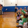 Singer/songwriter Brian Chevalier performed a song at Middle Gate Elementary School on Thursday, October 4, he wrote working with third and fourth graders at the school. . (Hallabeck photo)
