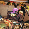 """A large collection of paper masks has been donated by Newtown resident and artist Ann Marie Sipherd for """"Newtown United ArtFULL — All About Halloween: Newtown's Best Halloween Bash."""" The third annual fundraiser by Newtown United will have a strong leaning toward Halloween this year. These masks, along with dozens of other items, will be sold to heighten the tone of the evening while also raising funds for Ann's Place and local food pantries. (Hicks photo)"""