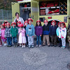 Members of Botsford Fire and Rescue visited with students at Middle Gate Elementary School on Tuesday, October 9, sharing safety tips and more during Fire Prevention Week, recognized this year from October 7 to 13. Botsford Fire and Rescue member Matt Hoffman, right, stood with Melinda Wilson's kindergarten class. (Hallabeck photo)