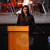 National Honor Society President Kate Bartel spoke during the society's annual Induction Ceremonies event, held at Newtown High School on Monday, October 8. (Hallabeck photo)