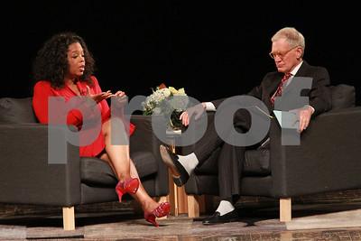 Oprah Winfrey talks w/ Dave Letterman: Muncie, Ind