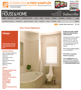 Canadian House and Home online edition http://houseandhome.com/design/chic-family-bathroom