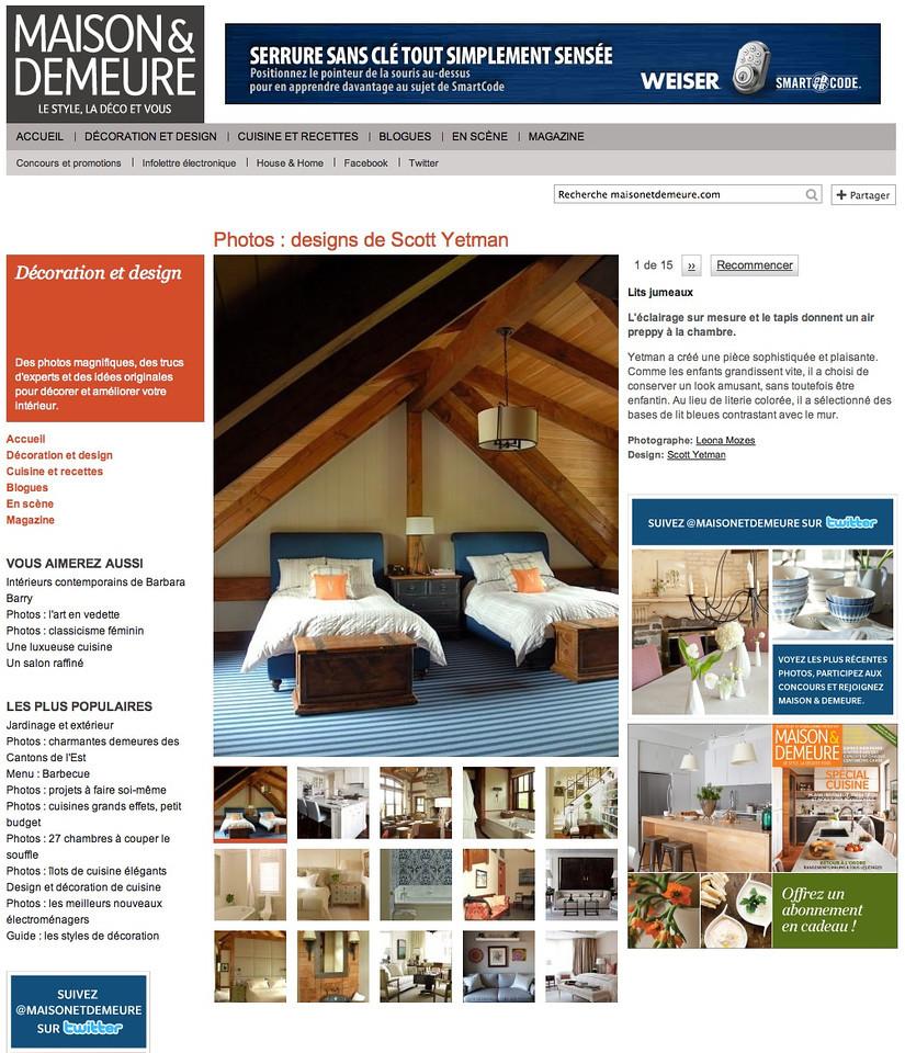 Maison & Demeure online magazine October 2011 http://houseandhome.com/design/photo-gallery-scott-yetman-designs?page=0