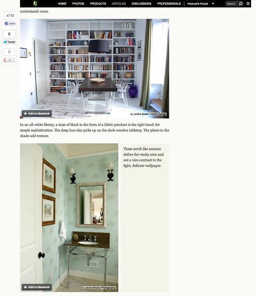 Houzz June 2012 Feature by Dana Miller http://www.houzz.com/ideabooks/2491777/list/Black-Lighting-Fixtures-Have-Bright-Prospects