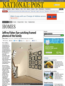 National Post online  Article by: Jeffrey Fisher Interior Designer: Scott Yetman Photograph:  Leona Mozes Photography http://life.nationalpost.com/2011/09/10/jeffrey-fisher-eye-catching-framed-photos-of-the-family/