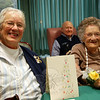 Residents at Masonicare of Newtown celebrated major birthday milestones last weekend.  (Bee Photo, Hallabeck)
