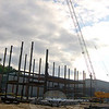Steel work at the Newtown High School expansion project. (Bee Photo, Hallabeck)