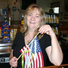 Debbie Sturges is helping to coordinate the flag project being run this season by VFW Post 308. The post will place American flags around its flagpole in time for Veterans' Day.  (Bee Photo, Hicks)