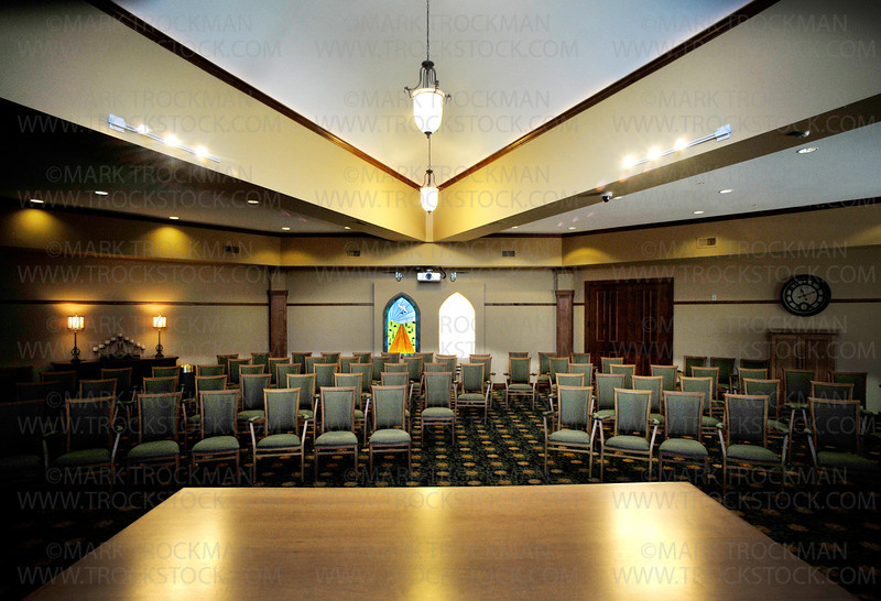 The new, 80-seat Chapel at Lake Minnetonka Shores expands the facility's religious service needs while adding a large, retractable movie screen behind the pulpit for movies or other audio visual needs.  The room is also readily available as one of several Community Rooms in the new facility.