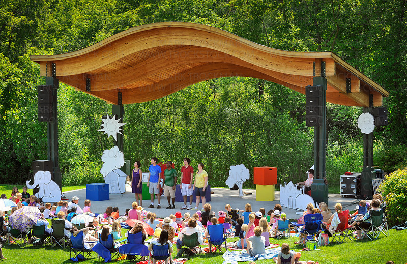 Minnetonka Theater's Music in the Park series attracted 245 visitors to their ensemble performance of Free to Be You and Me, Thursday, June 17, at the Minnetonka Civic Center Campus.  The four performances over three days attracted 1,200 people to the outdoor venue.
