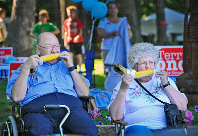 Music in Plymouth is known for it's fine dining experience and Richard and Mavis Johnson, Maple Grove, arrive at 5:00 PM to get their fresh corn on the cob right away.  The Johnsons have attended every Music in Plymouth festival since 1988.