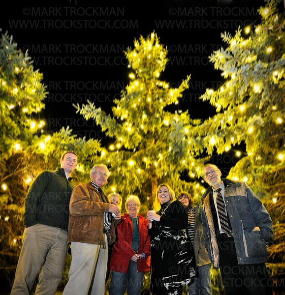 Light My Fire.  Spring Park government officials celebrated the annual tree-lightning ceremony outside City Hall Monday, Nov. 19, on the shores of Lake Minnetonka.  The group, left to right are Dan Tolsma, City Administrator; Gary Hughes, Council Member; Wendy Lewin, City Clerk; Shirley Bren, Council Member-Elect; Sarah Reinhardt, Mayor; Jackie Stone, Council Member; and, Bruce Williamson, Council Member.