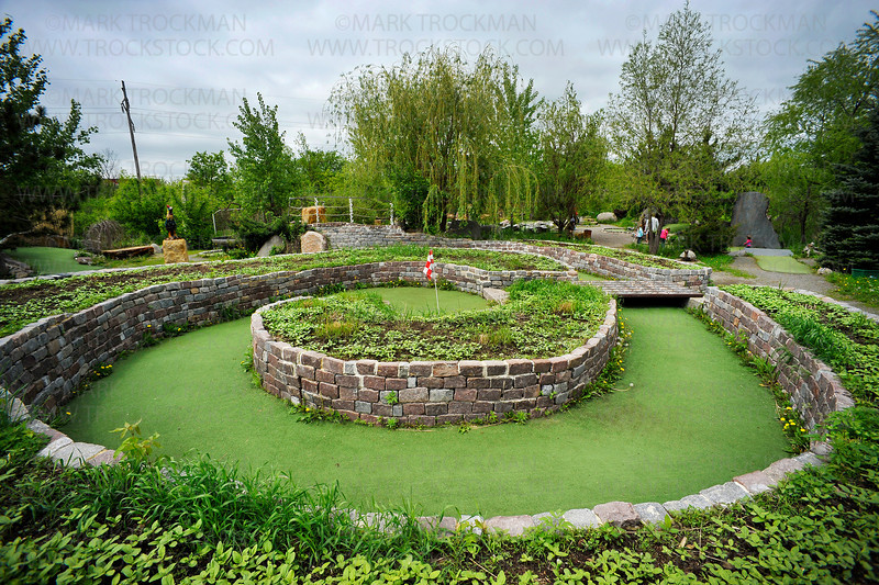 Big Stone Mini Golf & Sculpture Gardens hole No. 10, a Par 4 named, The Spiral.  The Minnetrista destination will keep you happily occupied whether you play the 13-hole course or not.