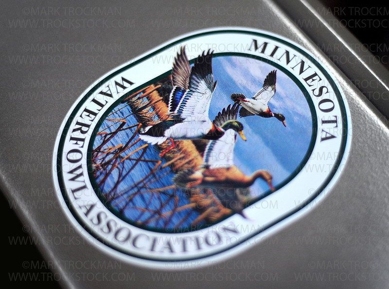 The logo for the Minnesota Waterfowl Association at the Hall of Fame Museum in Hopkins Wednesday, Sept. 21, 2011.
