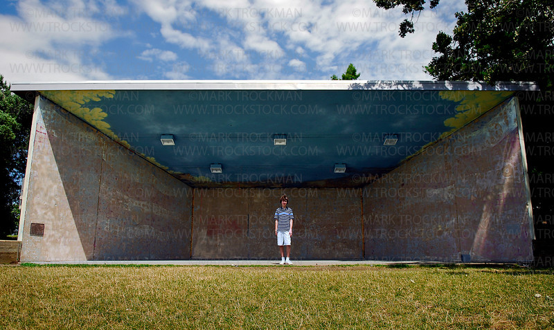 Timothy Zalusky, 14, of Chanhassen was picked as the winner of a contest to decide who's artwork will be used on the inside of the bandshell at Excelsior Commons.