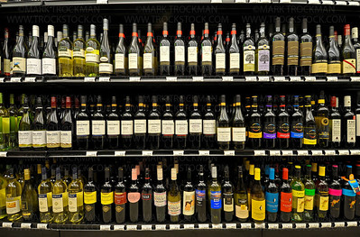Well-stocked, colorful aisles of wine await the first patrons inside the new Wayzata Muni during the grand opening Thursday, April 28.